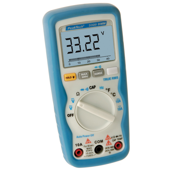 peaktech digital multimeter 3320 b rsch kg werkzeuge. Black Bedroom Furniture Sets. Home Design Ideas