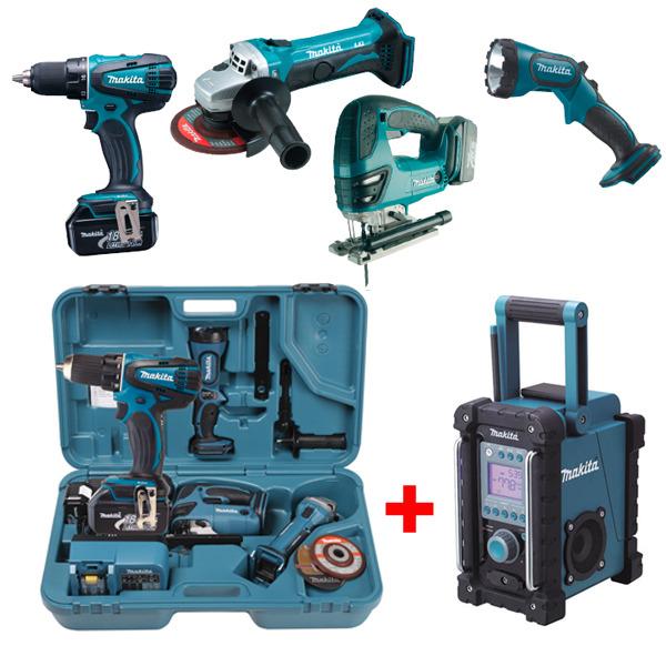 Makita Combo Kit Dk1874 B 246 Rsch Kg Werkzeuge